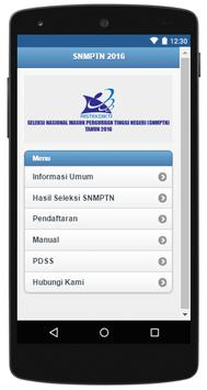 SNMPTN 2016 screenshot 1