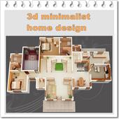 3d design minimalist house icon