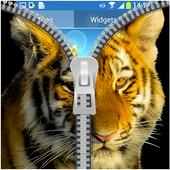 Tiger Zipper Lock Screen icon