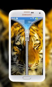 Tiger Zipper Lock Screen poster