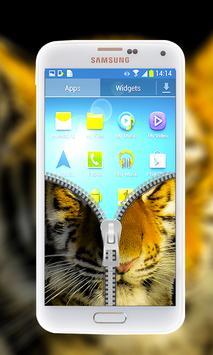 Tiger Zipper Lock Screen apk screenshot