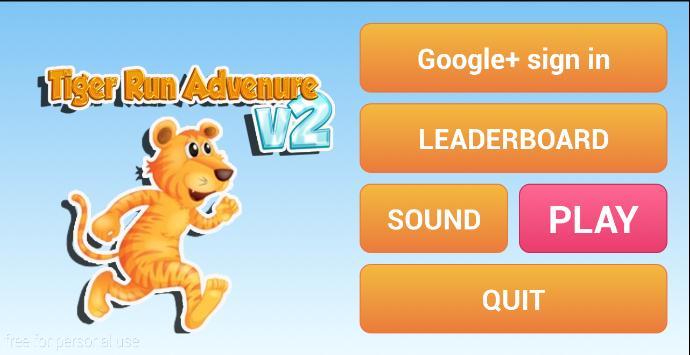 Tiger Run Adventure v2 poster