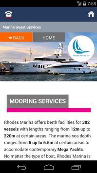 Rhodes Marina poster
