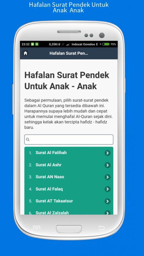 Hafalan Surat Pendek Untuk Anak Anak For Android Apk