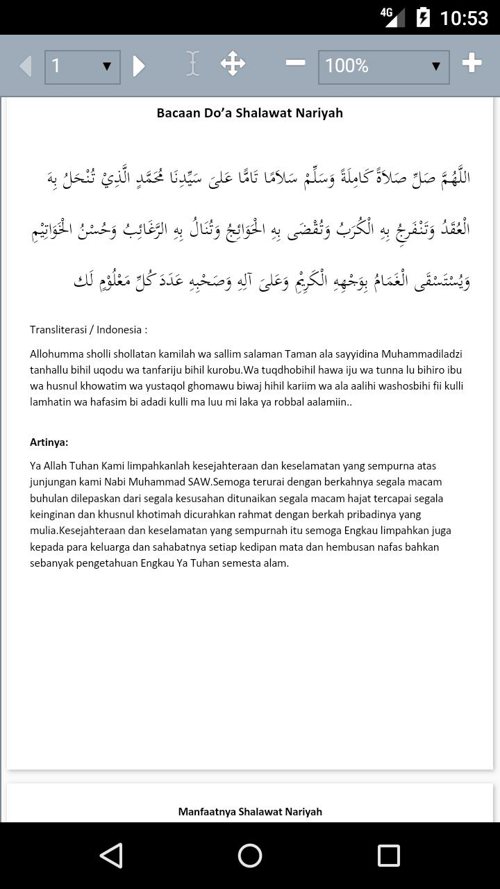 Bacaan Sholawat Nariyah For Android Apk Download