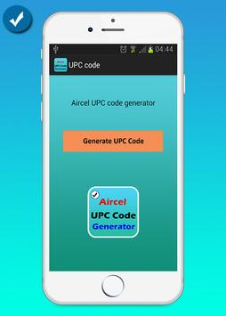 Aircel UPC Code Generator poster