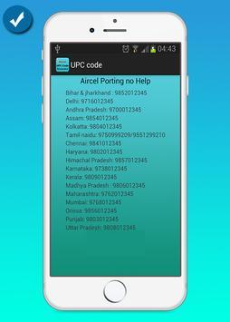 Aircel UPC Code Generator screenshot 1