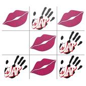 kiss or slap Tic Tac Toe icon