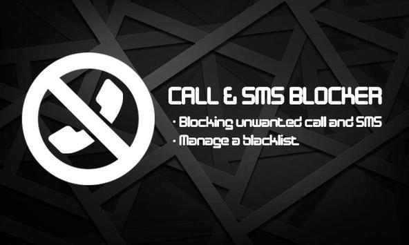 Call & SMS blocker - Blacklist poster
