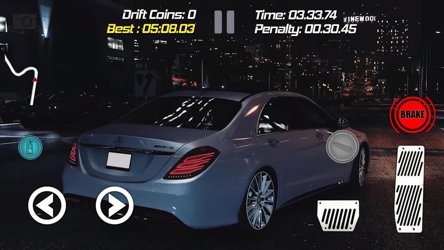 drift racing mercedes benz s65 simulator game for android. Black Bedroom Furniture Sets. Home Design Ideas