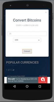 Bitcoin Live Price Rates & Calculator screenshot 1