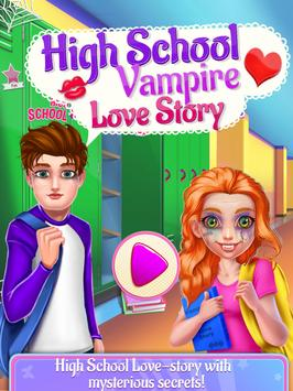 High School Vampire Love Story poster