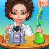 Science Experiments Lab - Scientist Girl icon