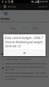 BMI & Time Diet apk screenshot