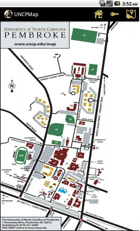 Unc Pembroke Campus Map.Uncp Campus Map For Android Apk Download