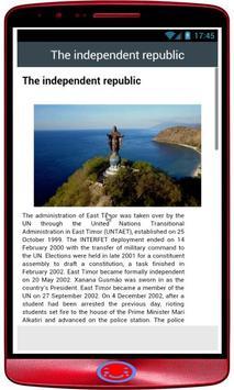 Timor Leste History apk screenshot