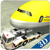 Airport Ground Flight Staff 3D icon