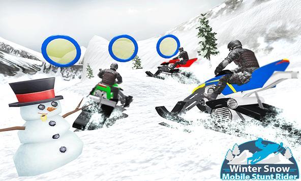 Winter Snowmobile Rider 3D poster