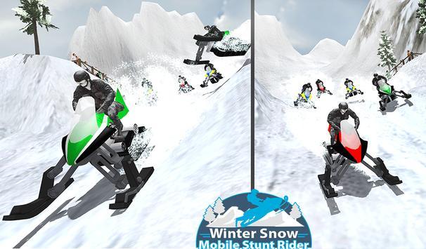 Winter Snowmobile Rider 3D apk screenshot