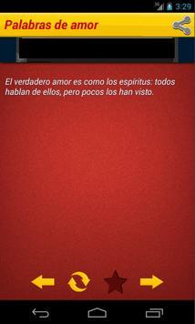 Palabras de amor apk screenshot