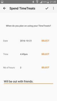TimeTreats apk screenshot