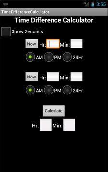 Time Difference Calc. apk screenshot