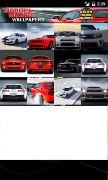 Modern Muscle Cars Wallpaper poster
