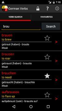 German Verbs poster
