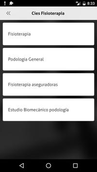 Cies Fisioterapia apk screenshot