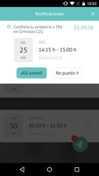 Gimnasio C21 apk screenshot