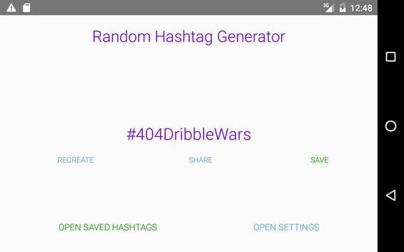 Random Hashtag Generator screenshot 3