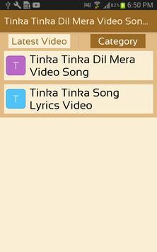 Tinka Tinka Dil Mera Video Song 2017 (Full HD) apk screenshot