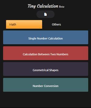 Tiny Calculation Beta 1.0 poster