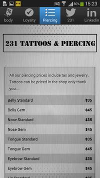231 Tattoos & Piercing apk screenshot