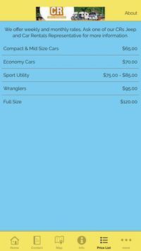 CR'S Jeep and Car Rentals screenshot 3