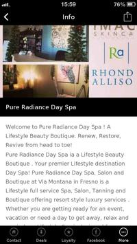 Pure Radiance Day Spa screenshot 2