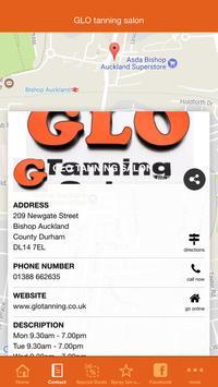 GLO tanning salon apk screenshot