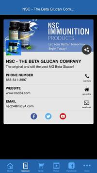 NSC - The Beta Glucan Company poster