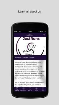 JustRuns Fitness & Events poster