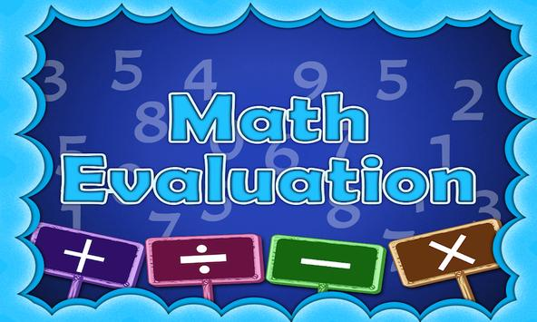 Math Evaluation By Tinytapps poster