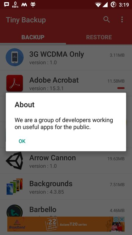 backup apk android without root