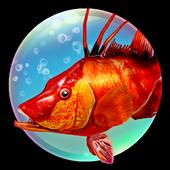 El juego de pesca submarina 3D icono