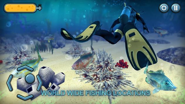 El juego de pesca submarina 3D captura de pantalla de la apk