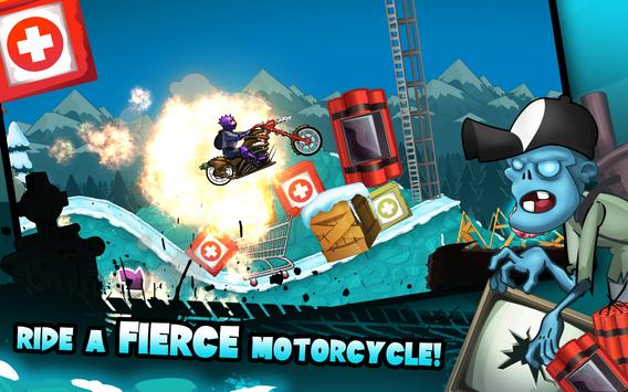 Zombie Shooter Motorcycle Race screenshot 2