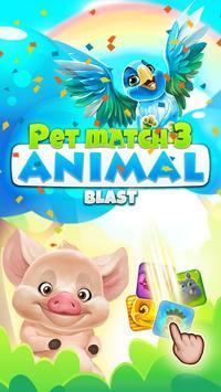 Pet Match 3: Animal Blast Game постер
