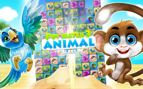 Pet Match 3: Animal Blast Game скриншот 16