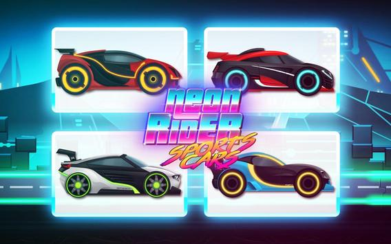 Car Games: Neon Rider Drives Sport Cars Poster