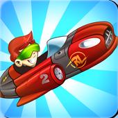 Superheroes Car Racing icon