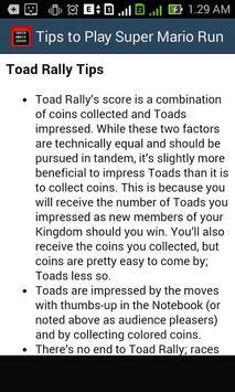 Tips Guide of Super Mario Run apk screenshot