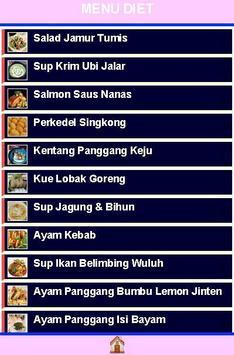 Tips dan menu Diet apk screenshot